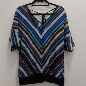 5/$20 Maurice's Sheer V-Neck Short Sleeve Blouse